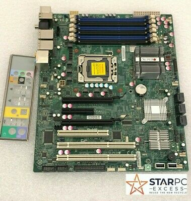 $ CDN103.66 • Buy Supermicro X8SAX Intel Xeon LGA1366 Socket Server Motherboard W/ I/O Shield