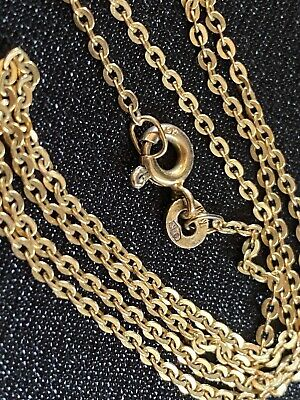 AU185 • Buy  9K Yellow Gold Italian Made Necklace Chain,  2Grams, 45cm