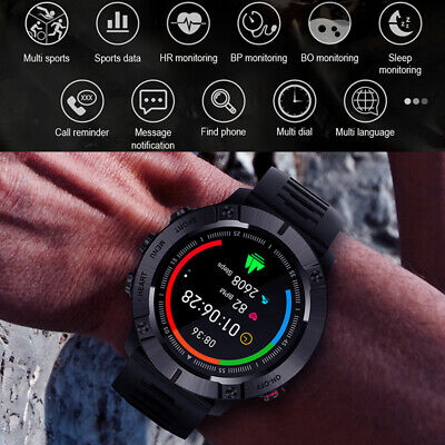 AU49.45 • Buy Waterproof Sport Smart Watch Bluetooth Heart Rate Blood Pressure For IOS Android
