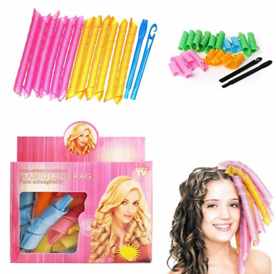 18pcs Magic Spiral Hair Curlers With Styling Hooks Styling Tools  • 5.99£