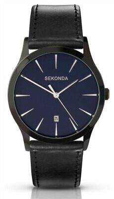 Sekonda Gents Quartz Watch With Blue Dial Analogue Display Black Strap 3536 • 23.99£