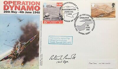£9.99 • Buy Dunkirk: Operation Dynamo FDC Signed By Wing Commander Peter Parrott DFC, AFC