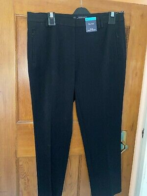 £11.99 • Buy MARKS AND SPENCERS Ladies Black Slim Leg Mid Rise Trousers Sizes 6-24 Brand New