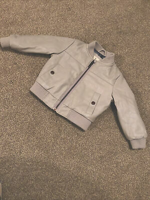 RIVER ISLAND Baby Leather Jacket Coat 9-12 Months • 3.50£