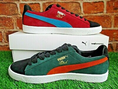 Puma Clyde X The Hundreds Trainers Size 9 Black / Green / Red / Orange / Blue • 74.99£