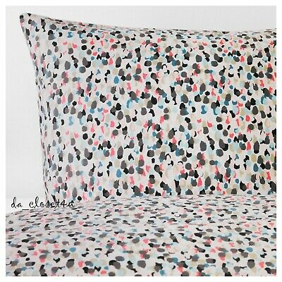 IKEA SMASTARR Dotted Duvet Cover W/ 2 Pillowcases Multicolor Full Double Queen  • 40.05£