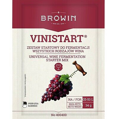 Universal Wine Yeast High Alcohol Browin 34g For 50l Wine Nutrient • 2.89£
