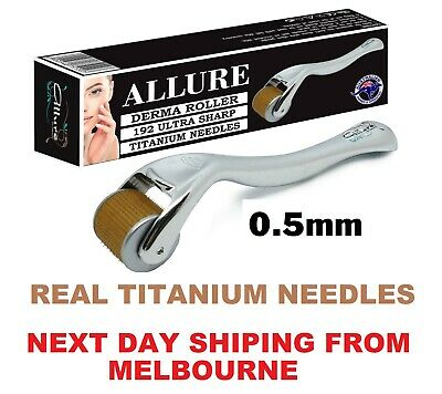 AU24.95 • Buy Derma Roller 0.5mm 192 Titanium Needles Dermaroller For General Face Anti Aging