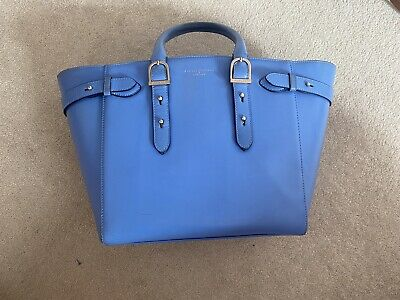 Aspinal Of London Marylebone Tote Bag Midi Blue RRP £895 • 104£
