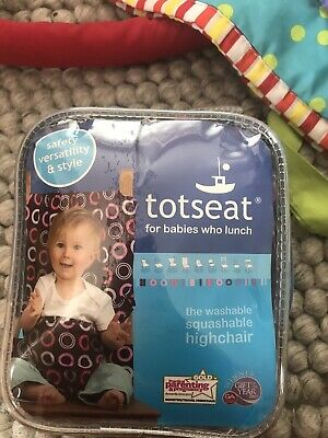 Totseat Washable Portable Highchair Baby Toddler Seat With Harness Boxed Pink • 8£