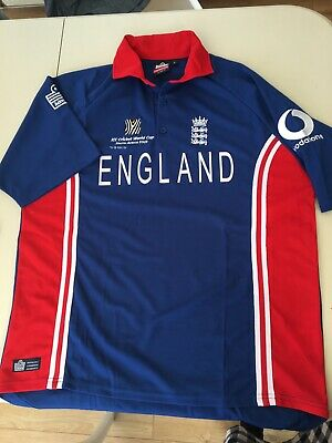 England Cricket Shirt L 2003 ICC World Cup Admiral Ex Con Large Mens • 5£