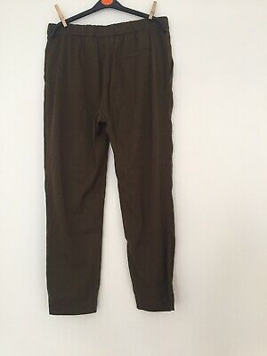 Khaki Cropped Trousers H&M Size 12 • 0.99£