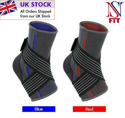 Ankle Support Brace Compression Achilles Tendon Strap Foot Sprains Injury • 4.99£