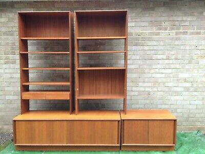 G Plan Vintage Furniture Teak 2 Cupboards And 2 Shelf Units Very Versatile • 89£