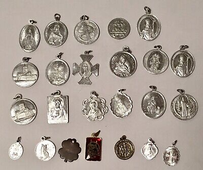 Collection Of Oxidised Metal Catholic Charms / Pendants & Others • 8.95£