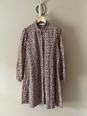 Reyon  Floral Long Sleeve Cotton Shirt Dress Size XL UK 14-16 New With Tags • 5.99£
