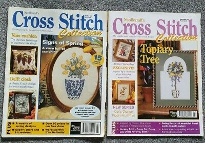 Cross Stitch Collection Magazine Bundle Flowers , All Our Yesterday's Charts • 2£