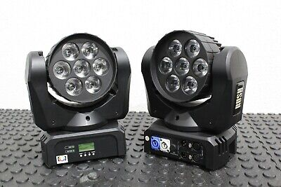 LOT OF 2 Martin Professional RUSH MH 2 Wash LED Moving Head Fixtures FREE S&H • 1,157.74£