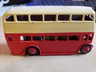 $ CDN13.14 • Buy Dinky Toy Double Decker Bus (#290?), Red/creme, No Decals