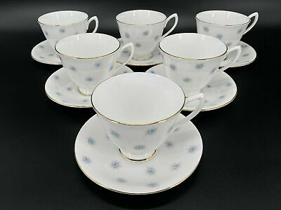 Royal Albert Star Of Eve Tea Cup Saucer Set X 6 Bone China England • 67.44£