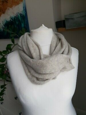 John Lewis Grey 100%Pure Cashmere Infinity Scarf Cowl Snood  • 12£