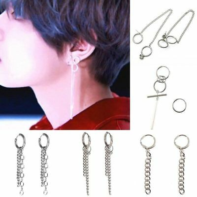 Kpop BTS Bangtan Boys Chain Ear Stud Earrings Army Kim Taehyung V Jimin Jewelry • 3.59£