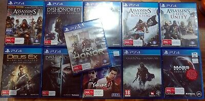 AU50 • Buy Playstation 4 11 Game Lot Including For Honor, Yakuza 0 & Assassins Creed Unity