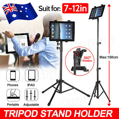 AU23.95 • Buy Adjustable Floor Tripod Tablet Stand Carrying For IPad 7-12 Inch Tablets AU
