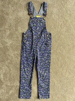 Boden Floral Dungarees 5-6 • 9.50£