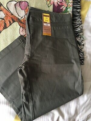Ladies Khaki Cropped Trousers - Marks & Spencer - Size 16 ***READ DESCRIPTION*** • 1£