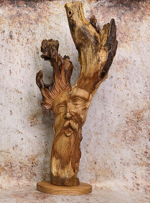 Green Man Of The Woods Forest Man LOTR Wizard Sculpture Bust  Hand Carved  • 37.75£