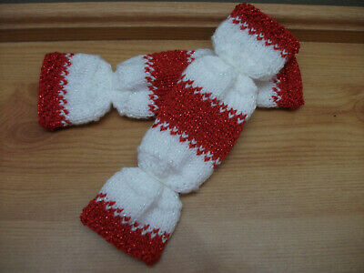 Red Hand Knitted Re Fillable Crackers. These Are Great For A Wedding/Christmas • 1.99£