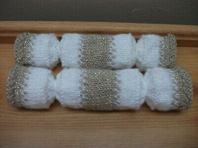 2 Gold Hand Knitted Re Fillable Crackers. Great For A Wedding/Christmas • 1.99£