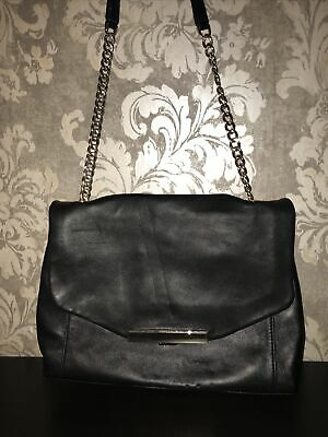 Autograph M&s 100% Soft  Black Leather Large Shoulder Hand Bag • 7.99£
