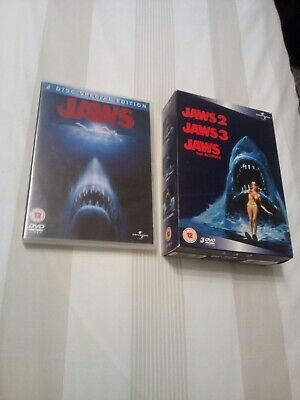 Jaws Dvd Bundle Lot Shark Horror Boxset Bundle Lot Region 2 • 4.99£
