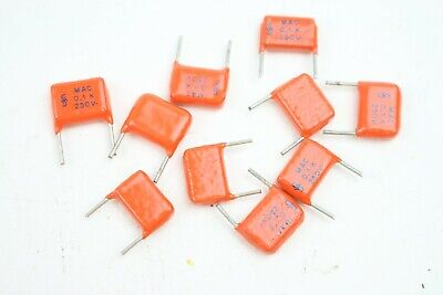 $3.99 • Buy (10) NOS Siemens MAC 0.1uF 250V Metallised Film Vintage Capacitor 100nF Radial