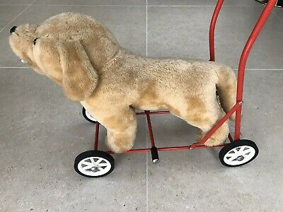 Vintage Plush Push Along Labrador Dog Toy Made By Mulholland And Bailie. • 45£