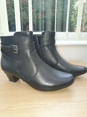 Pavers Black Ankle Boots Size 5 • 20£