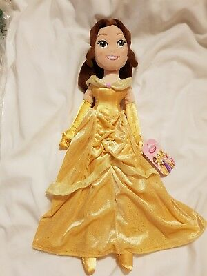 Beauty & The Beast Belle Plush Doll Disney Store NEW Rare Soft Toys 2013 Yellow • 27.49£