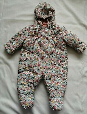Girls Snowsuit/pramsuit, 0-3 Months, Marks And Spencer, Used • 1.60£