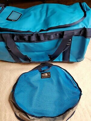 The North Face Basecamp Duffel Packable Travel Suitcase Large Bag Blue New • 90.47£