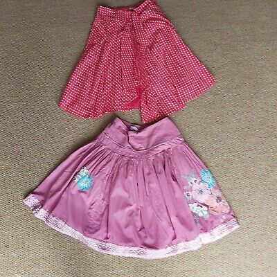 2 X Gorgeous Monsoon Girls Skirts Skirt Age 8-10 Years - Flowers Polka Dot • 10£