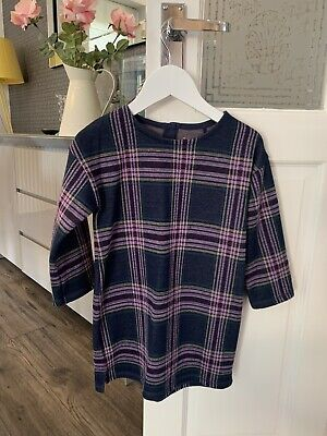 Next Girls Dress Age 3/4 Checked Winter Top Long Sleeved  • 0.99£