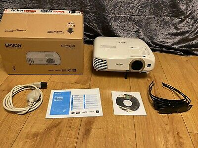 Immaculate Epson EH-TW5300 LCD 3D HD Projector With Remote Control, 4x 3DGlasses • 190£