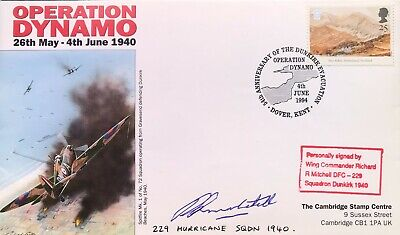£9.99 • Buy Dunkirk: Operation Dynamo FDC Signed By Wing Commander Richard R Mitchell 229 Sq