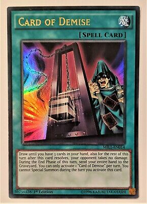 AU9.95 • Buy YuGiOh Card Of Demise Ultra Rare MIL1-EN014 NM 1st Edition