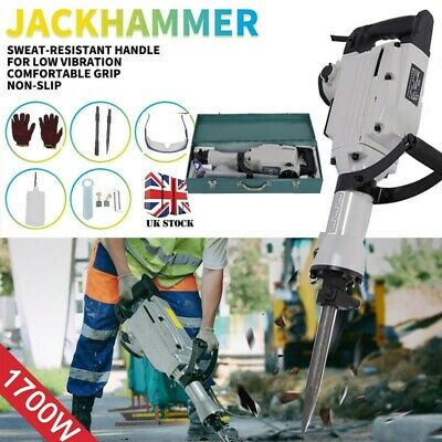 Electric Demolition Hammer 1800w Breaker Jack Drill Concrete Power Tool Hammer • 110.99£