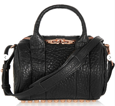 AU300 • Buy Alexander Wang Mini Rockie Bag Black Rose Gold Studs