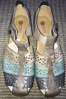 AU28 • Buy PLANET SHOES Ladies 'Yacht' Leather Rip Tab Close Shoes Sandals Size 11