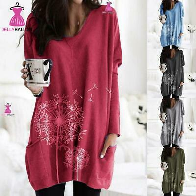 Plus Size Women Long Sleeve Baggy Jumper Ladies Tunic Shirt Sweater Pullover Top • 12.19£